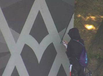 Nastolatek zniszczył mural w Jastrzębiu. Za szkody odpowiedzą rodzice