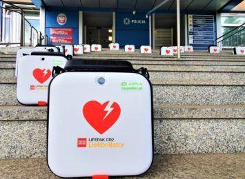 Automatyczne Defibrylatory Zewnętrzne AED we wszystkich komendach policji na Śląsku