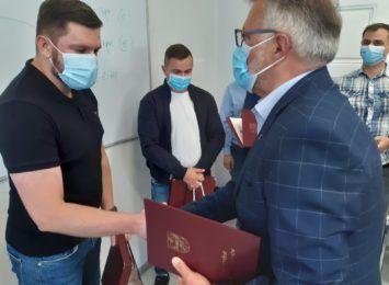 Szpital w Knurowie podziękował ratownikom górniczym za pomoc w pandemii