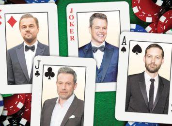 Celebryci przy pokerowych stołach