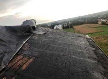 Raport po burzach w regionie. Zerwane dachy w Mszanie, Radlinie, Gorzycach i Gaszowicach