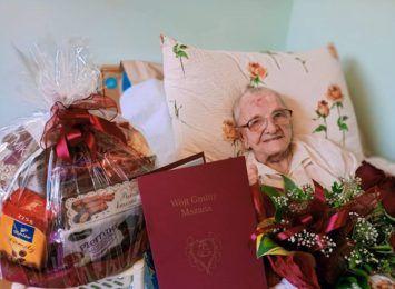 102 lata ma najstarsza mieszkanka Mszany. Wszystkiego najlepszego!