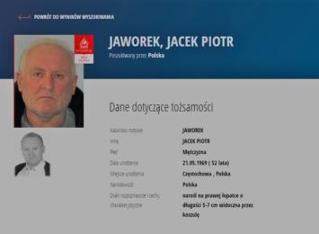 Poszukiwania zabójcy spod Częstochowy.  Za Jackiem Jaworkiem wydano czerwoną notę Interpolu