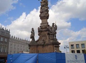 Racibórz remontuje Kolumnę Maryjną. Właśnie ruszyły prace