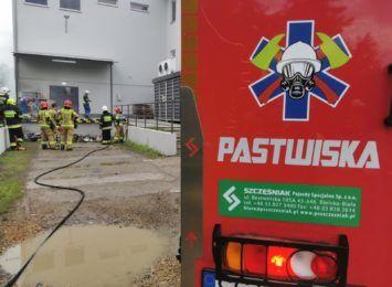 Pożar na zapleczu sklepu Biedronka w Cieszynie