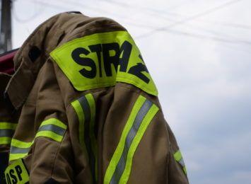 Pożar przy ulicy Kokoszyckiej w Wodzisławiu Śląskim