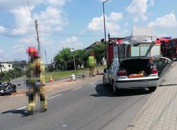 Rydułtowy: Zderzenie osobówki z motocyklem
