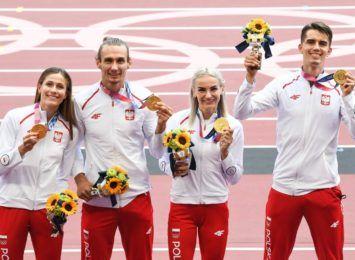 Sztafeta 4x400m z Justyną Święty-Ersetic w finale na Igrzyskach