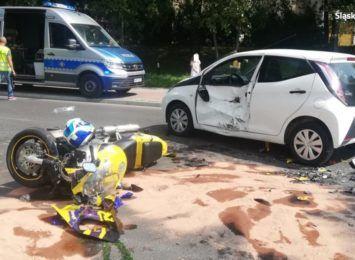 Wypadki z motocyklistami w Jastrzębiu-Zdroju. Główną przyczyną nieustąpienie pierwszeństwa