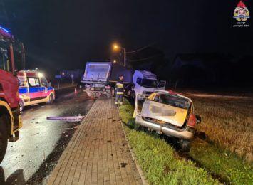 Jastrzębie-Zdrój: Zderzenie ciągnika z osobówką na ulicy Rybnickiej