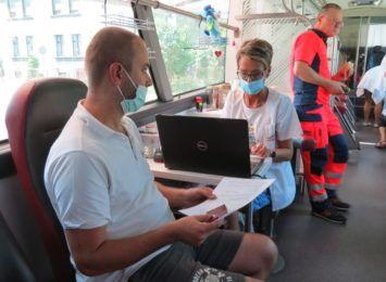 Oddali krew przed siedzibą Straży Pożarnej w Rybniku