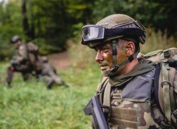 Pierwszy egzamin przyszłych żołnierzy 13. Śląskiej Brygady Obrony Terytorialnej