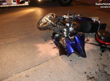 Wypadek z udziałem motocyklisty w Jastrzębiu. Jedna osoba trafiła do szpitala [FOTO]