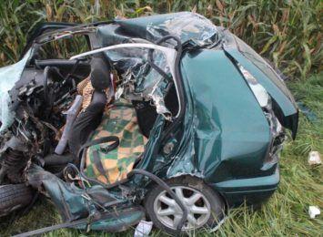 Śmiertelny wypadek w Rudniku. Nie żyje 74-letni kierowca [FOTO] [AKTUALIZACJA]