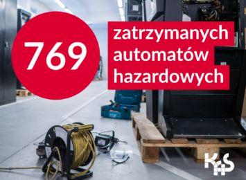 Śląska KAS zabezpieczyła 769 nielegalnych automatów