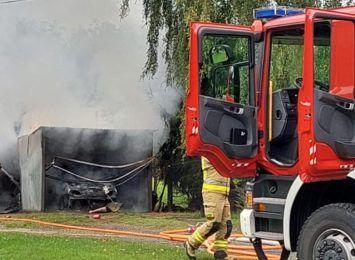 Rybnik: Spalił się samochód i warsztat