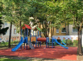 Nowe place zabaw w raciborskich przedszkolach
