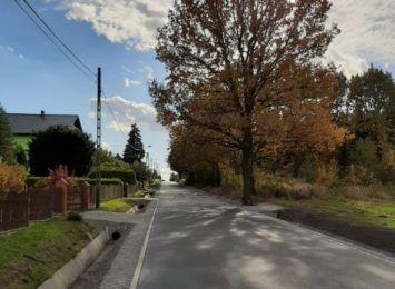 Fragment ulicy Dworcowej w Łaziskach oddany do użytku