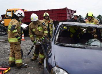 Wielkie strażackie manewry w Gaszowicach na pożegnanie druha